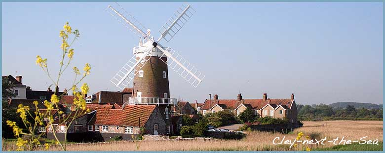 Image of Cley next the Sea, including cley windmill.